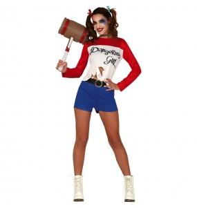 Disfraz de Harley Quinn Cómic para mujer