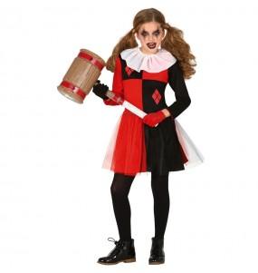 Disfraz de Harley Quinn cosplay para niña