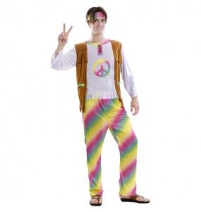 Disfraz de Hippie Arcoíris para hombre