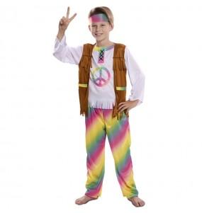 Disfraz de Hippie Arcoíris para niño