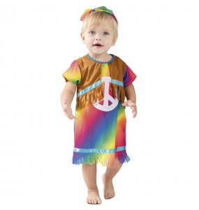 Disfraz Hippie de la Paz Bebé