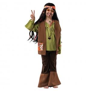 Disfraz de Hippie Marrón Niño