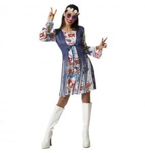 Disfraz de Hippie Peace para mujer