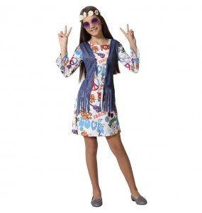 Disfraz de Hippie Peace para niña