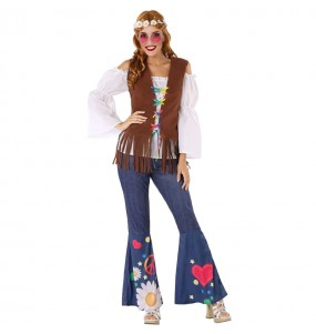 Disfraz de Hippie Sesentera para mujer