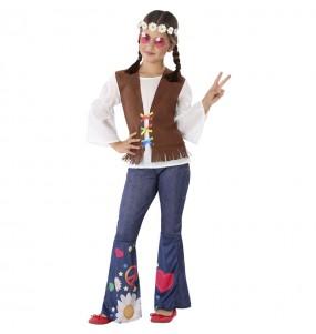 Disfraz de Hippie Sesentera para niña