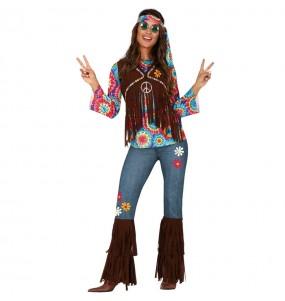 Disfraz de Hippie Woodstock para mujer
