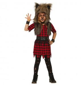 Disfraz de Hombre Lobo para niña