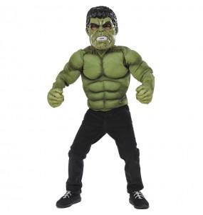 Disfraz de Hulk pecho musculoso para niño