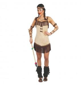 Disfraz de India Flecos para mujer