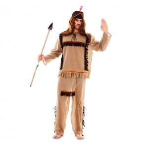 Disfraz de Indio Marrón con delantal para hombre