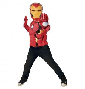 Disfraz de Iron Man pecho musculoso para niño