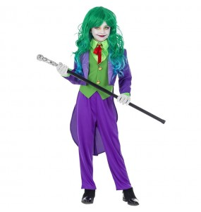 Disfraz de Joker Supervillana para niña