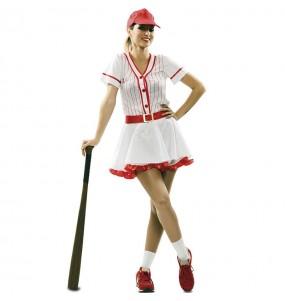 Disfraz de Jugadora de Béisbol Retro para mujer