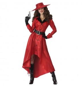 Disfraz de Ladrona Carmen Sandiego para mujer