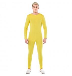 Disfraz de Maillot amarillo spandex para hombre