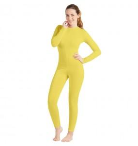Disfraz de Maillot amarillo spandex para mujer