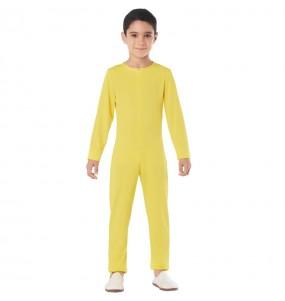 Disfraz de Maillot amarillo spandex para niño