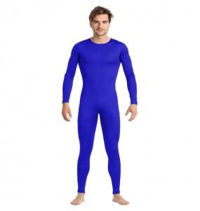 Disfraz de Maillot azul spandex para hombre