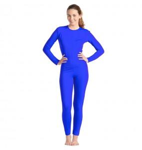 Disfraz de Maillot azul spandex para mujer