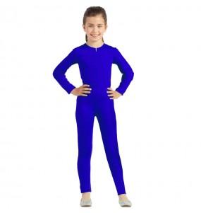 Disfraz de Maillot azul spandex para niña