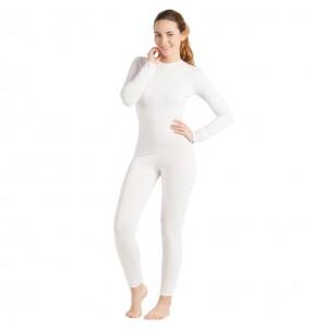 Disfraz de Maillot blanco spandex para mujer