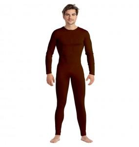 Disfraz de Maillot marrón spandex para hombre