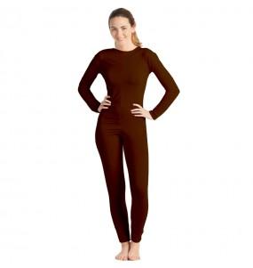 Disfraz de Maillot marrón spandex para mujer