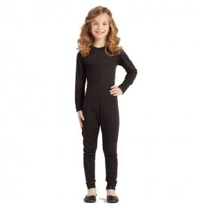 Disfraz de Maillot negro spandex para niña