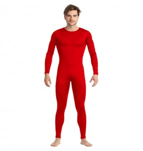 Disfraz de Maillot rojo spandex para hombre