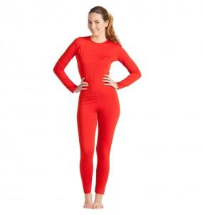 Disfraz de Maillot rojo spandex para mujer