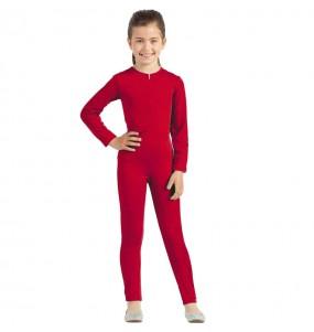 Disfraz de Maillot rojo spandex para niña