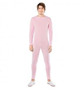 Disfraz de Maillot rosa spandex para hombre