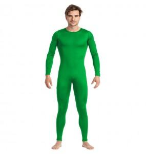 Disfraz de Maillot verde spandex para hombre