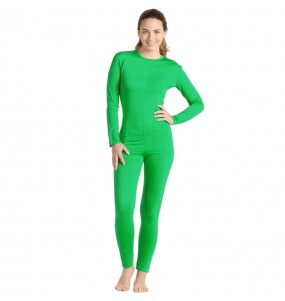 Disfraz de Maillot verde spandex para mujer