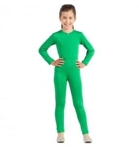 Disfraz de Maillot verde spandex para niña