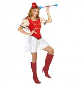 Disfraz de Majorette Roja para mujer
