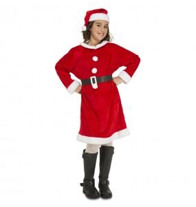 Disfraz de Mamá Noel niña barato