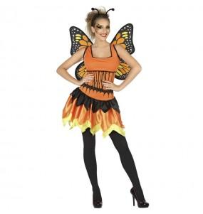 Disfraz de Mariposa naranja para mujer