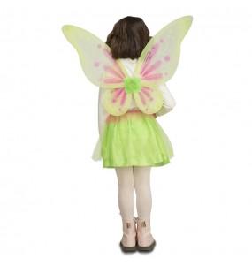 Disfraz de Mariposa Verde para niña