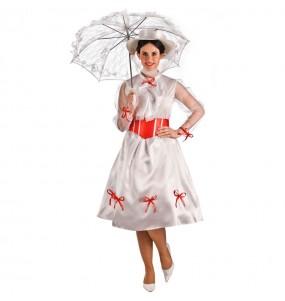 Disfraz de Mary Poppins Blanco para mujer