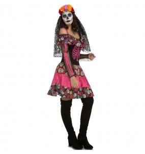 Disfraz de Catrina muerte mexicana para mujer