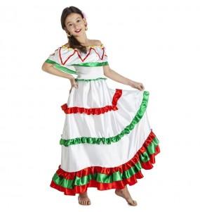 Disfraz de Mexicana Tijuana para niña