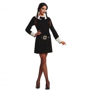 Disfraz de Miércoles Addams siniestra para mujer