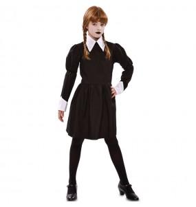 Disfraz de Miércoles Addams siniestra para niña