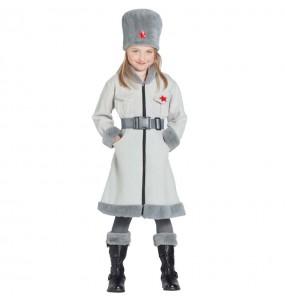 Disfraz de Rusa Soviética Militar para niña