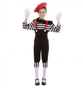 Disfraz de Mimo Circo para niña