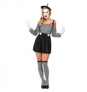 Disfraz de Mimo Clown para mujer