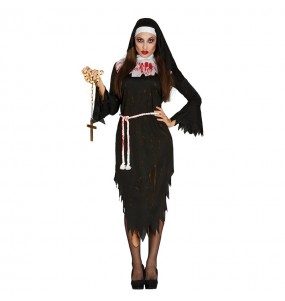 Disfraz de Monja Sangrienta Zombie adulto