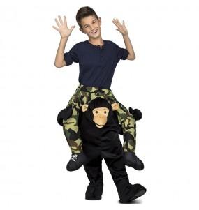 Disfraz de Mono Chimpancé a hombros para niños